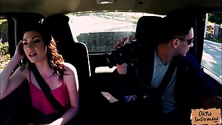 Jessica Rex stripteases in stranger car