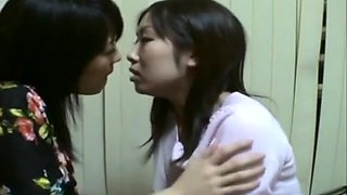 the best japanese lesbian kissing video