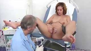 Perverted gynocologist with patient