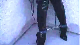 Rooftop bondage boots