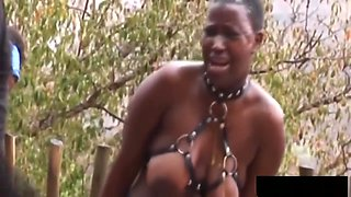 African Chicks Enjoy Getting Abused Outdoors