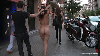 Spanish Hottie Naked And Fucked In Public - PublicDisgrace