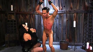 mean mistress uses her slave's asshole