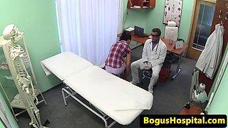 patient fingers nurse before doctor fucks pussy
