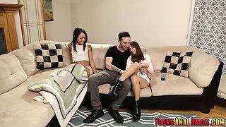 Mega hot Holly Hendrix anal fucked by sisters boyfriend