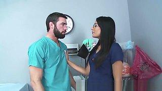 Brazzers - Shazia Sahari - Doctor fucks Nurse while patient is sleeping