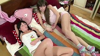 Sister Seduce Step-Sister to Use Mothers Sextoys