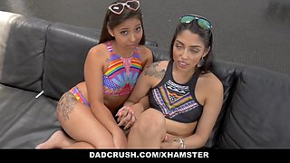 DadCrush - Sexy Sisters Fucked By Stepdad