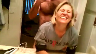 Cute MILF Fucked in front of The Bathrrom Mirror