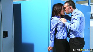 Kirsten Price is fucked silly by a large cock as she moans