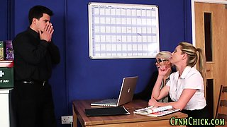 Office cfnm mistresses