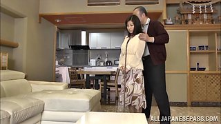 Hot MILF Chihiro Akino acts as a sex slave