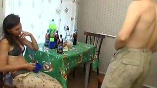 Kristina Drunk russian cumshots swallow