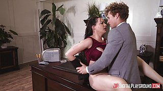 MIlf Dana DeArmond pussy pounded in the office