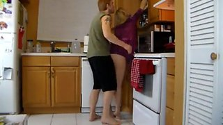Kitchen grope mom