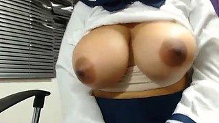 Hot slut live cam big tits in school girl outfit