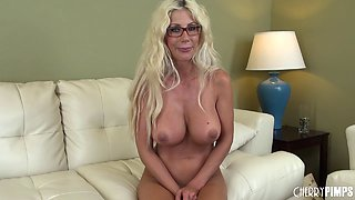 Puma Swede and her huge fake tits in a fuck video