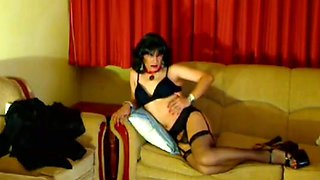Crossdresser Claudia Hooker in Sexy lingerie