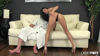 Older guy gets to nail a fine ass Latina babe live on cam
