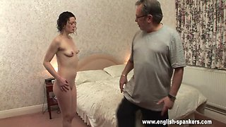 spanking his daughter hard