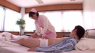 Exotic Japanese model Tina Yuzuki in Fabulous Nurse JAV scene