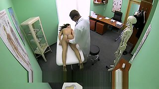 FakeHospital Slim skinny young student cums in for check up gets the doctor