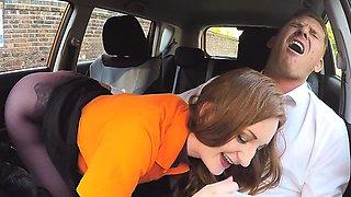 Hot Student Zara Durose Blows Driving Instructor
