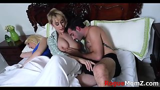 Mom fucks son infront of his wife