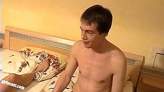 Natascha's anal defloration - Cuckold has to watch