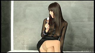 Big dildo in the glory hole surprises naughty Marica Hase