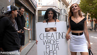 Cheating Wife'S Big Hot Ass Shamed Fully Naked In Public Display - PublicDisgrace