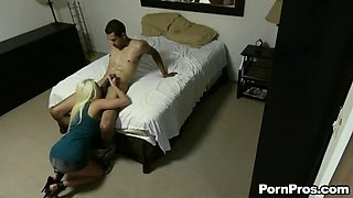 great amateur action with busty blonde milf jacky joy
