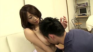 Crazy Japanese model in Horny Handjob, Nipples JAV clip