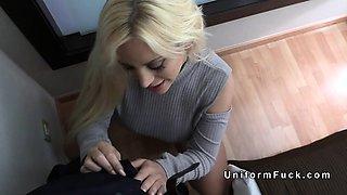 Huge booty blonde bangs fake cops big cock