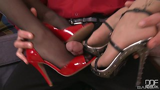 Lucky guy finally gets to fuck Ann Marie La Sante and her friend
