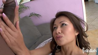 Tight Asian Jackie Link Tries A Huge Black Cock