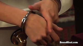 DOA 2: Busty Maid Wash And Shaves Handcuffed Slave