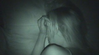 Night vision sucking and fucking with his cute blonde girlfriend