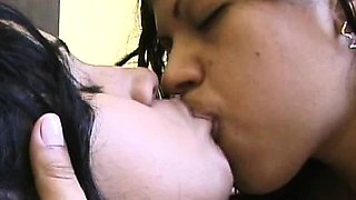 Passionate Indian Lesbians Kissing