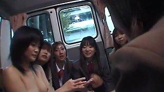 Amazing Japanese chick Nana Miyachi, Yuria Hidaka, Makoto Mizuhara in Horny Girlfriend, Group Sex JAV clip