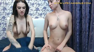 Two sisters lesbians 18 years old sell their virginity in a private video chat