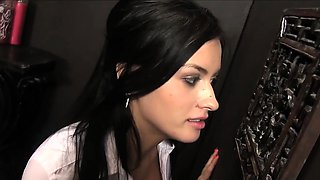 Nadia Capri Sucks Some Hard Cock At A Glory Hole