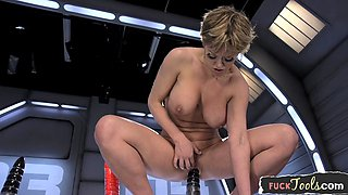 Machine loving MILF gets her ass fucked