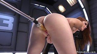 Big ass redhead fucking machine