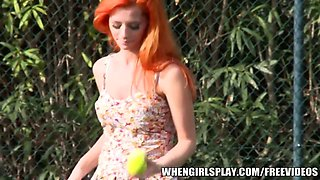 Taylor Vixen tells the story of her fucking a hot Tennis red