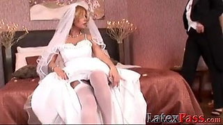 Blonde bride loves being a lesbo bottom bitch for her girl