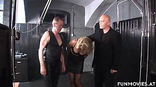 Marga in German Granny Bondage Spanking - FunMovies