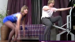 Emily Davis Abused By Horny Step Brother From Behind