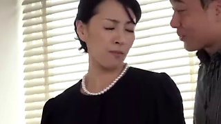Asian Japanese MILF are blackmailed for a cell phone