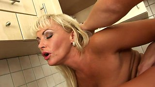 Dirty Mature Rough Sex In Kitchen